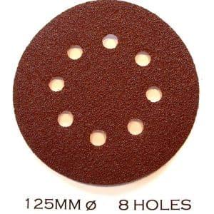125mm Orbital Sanding Discs Hook & Loop 8 holes