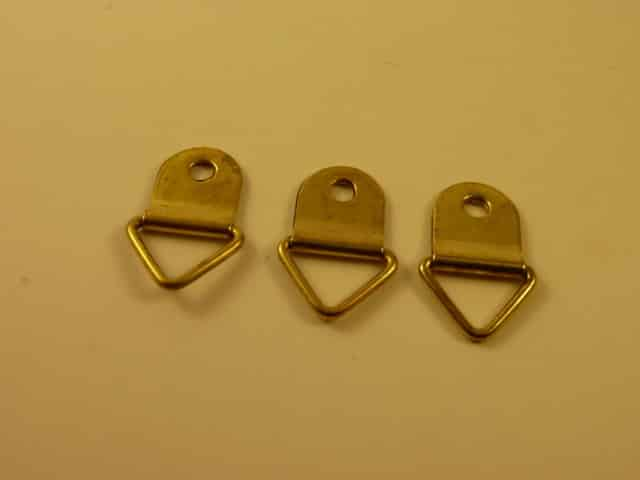 Brass Plated Picture Hooks (20 pieces)