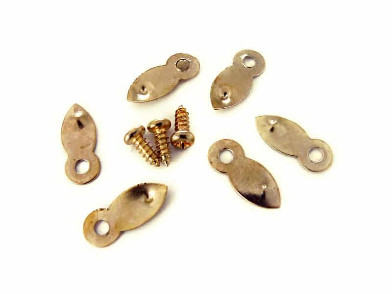 Brass Plated Turn Buttons (50 pieces)