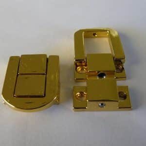 Polished Brass Lacquered Box Catches (5 pieces)
