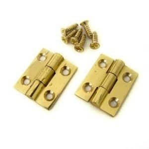 """Solid Brass polished Butt Hinges 3/4"""" x 5/8"""""""