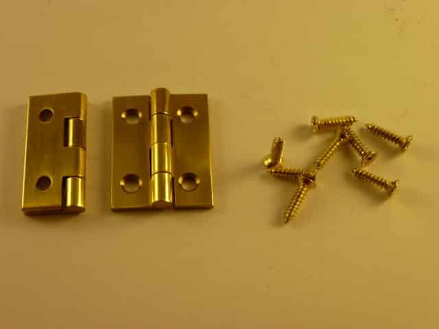 """Solid Brass polished Butt Hinges 1"""" x 3/4"""""""