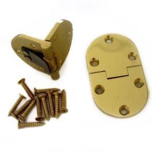 "2 1/2"" x 1 1/2"" x 1/8"" hinges with lock (1 pair)"