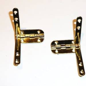 40mm x 40mm Quadrant Hinges with Stay (1 pair)
