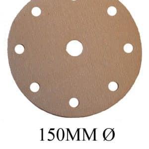 Orbital Sander Discs 800 Grit, Hook and Loop 9 Holes