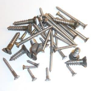 """Steel Wood Screws 1"""" x 6 g (100 screws)"""
