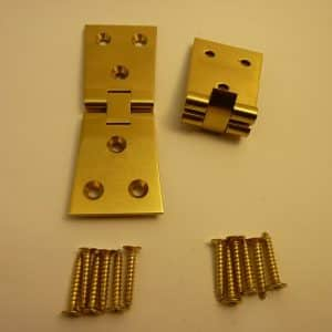 Solid Brass Counterflap Dovetail Hinges
