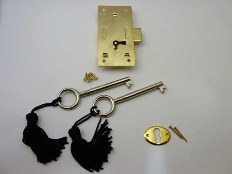 Brass plated Steel Cabinet Door Lock - Medium