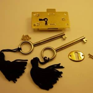 Brass plated Steel Drawer Lock - Medium
