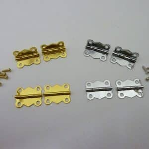 Brass plated/chrome plated polished Butterfly Hinges