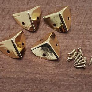 Brass plated Box Corners 20mm x 20mm