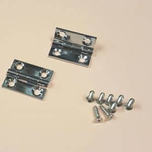 "3/4"" x 5/8"" Butt Hinges Chrome plated"