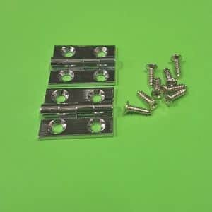 "1"" x 3/4"" Butt Hinges Chrome plated"