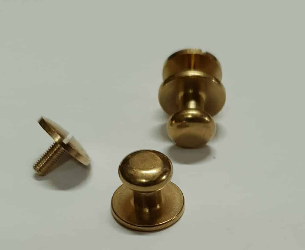 10mm Solid Brass Knobs (flat)